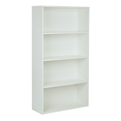 Pro-Line II Prado 4 Shelf Bookcase White 60H x 31.5W x 12D