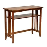 OSP Designs Wood Foyer Table, Ash Finish