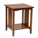 OSP Designs Wood Side Table, Ash Finish