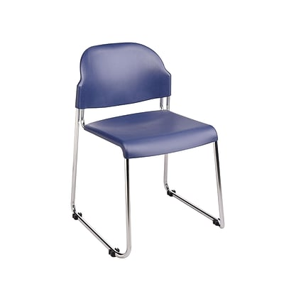 Work Smart STC Series Metal & Plastic Stacking Chair, Blue