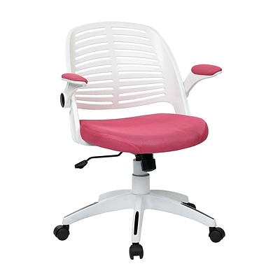 Ave Six Tyler Metal & Plastic Office Chair, Pink