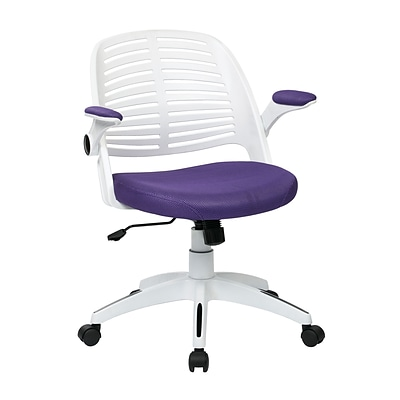 Ave Six Tyler Metal & Plastic Office Chair, Purple