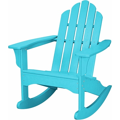 Hanover Outdoor  Adirondack Rocking Chair, All Weather, Aruba (HVLNR10AR)