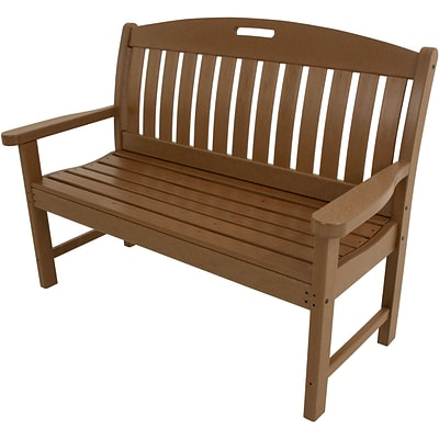 Hanover Outdoor Avalon Porch Bench in Teak, All Weather, 48 (HVNB48TE)