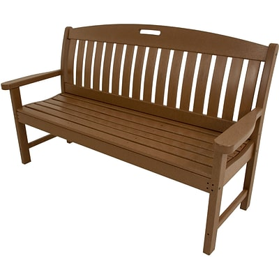 Hanover Outdoor Furniture Avalon All-Weather Porch Bench, 60in, Teak (HVNB60TE)