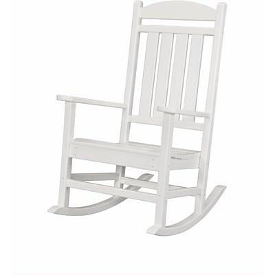 Hanover Outdoor Furniture All-Weather Pineapple Cay Porch Rocker, White (HVR100WH)