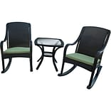 Hanover Outdoor Furniture 5 Piece Orleans Rocking Patio Set, Made with All-Weather Materials (ORLEAN