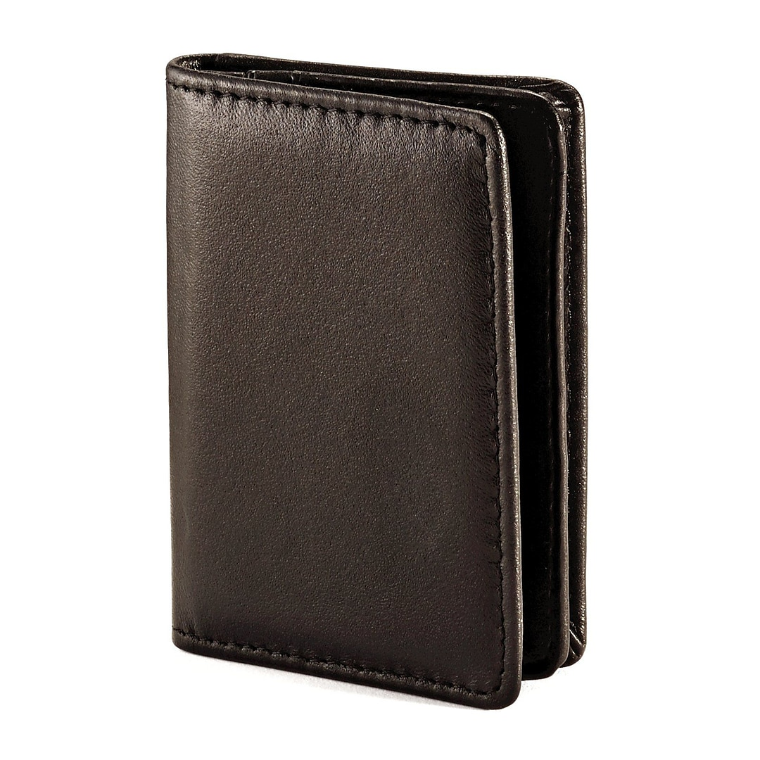 Samsonite Leather Business Card Holder | Quill.com