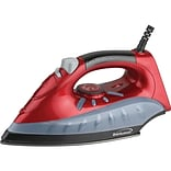 Brentwood Non-stick Steam/dry; Spray Iron (red)