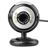 Insten® 2064761 Universal 16MP Webcam w/Built-In Microphone & Night Vision PC Laptop Conference Call