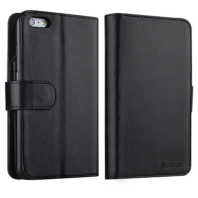 Insten® Flip Leather Fabric Case with Card Slot/Photo Display Apple iPhone 6/6S Plus Black (1990900)