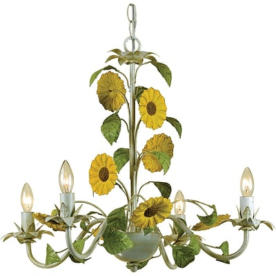 AF Lighting Kansas Sunflowers Chandelier (70484H)