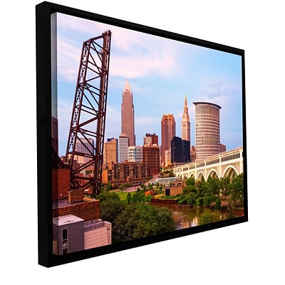 ArtWall Cleveland 10 Gallery-Wrapped Floater-Framed Canvas 24 x 36 (0yor023a2436f)