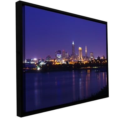 ArtWall Cleveland 18 Gallery-Wrapped Canvas 16 x 24 Floater-Framed (0yor031a1624f)