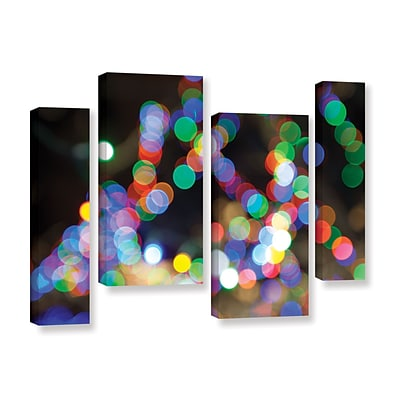 ArtWall Bokeh 1 4-Piece Gallery-Wrapped Canvas Staggered Set 36 x 54 (0yor005i3654w)