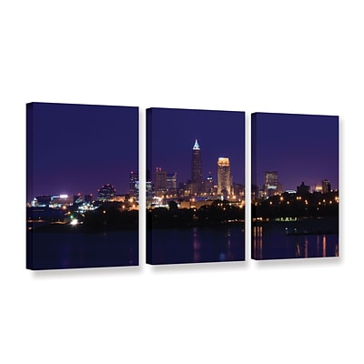 ArtWall Cleveland 16 3-Piece Gallery-Wrapped Canvas Set 24 x 48 (0yor029c2448w)