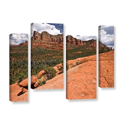 ArtWall Sedona 4-Piece Gallery-Wrapped Canvas Staggered Set 36 x 54 (0yor053i3654w)
