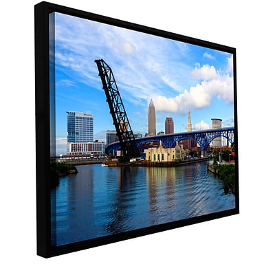 ArtWall Cleveland 12 Gallery-Wrapped Canvas 16 x 24 Floater-Framed (0yor025a1624f)