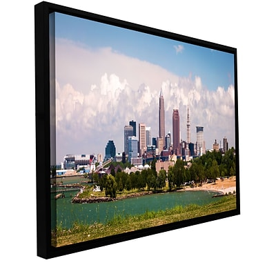 ArtWall More Cleveland Gallery-Wrapped Canvas 24 x 48 Floater-Framed (0yor037a2448f)