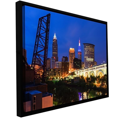 ArtWall Cleveland 21 Gallery-Wrapped Canvas 32 x 48 Floater-Framed (0yor034a3248f)