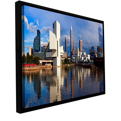 ArtWall Cleveland 20 Gallery-Wrapped Canvas 12 x 24 Floater-Framed (0yor033a1224f)