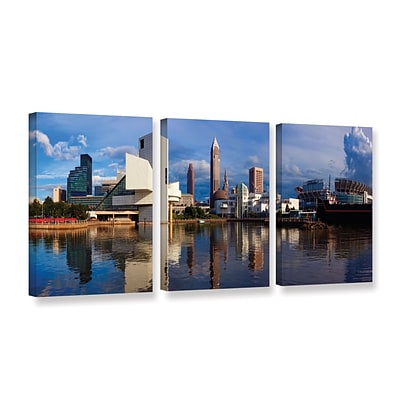 ArtWall Cleveland 20 3-Piece Gallery-Wrapped Canvas Set 36 x 72 (0yor033c3672w)