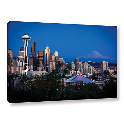 ArtWall Seattle And Mt. Rainier Gallery-Wrapped Canvas 24 x 36 (0yor050a2436w)
