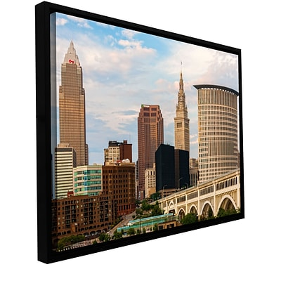 ArtWall Cleveland 9 Gallery-Wrapped Canvas 24 x 36 Floater-Framed (0yor022a2436f)