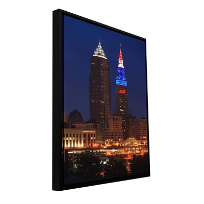 ArtWall Cleveland 4 Gallery-Wrapped Canvas 12 x 18 Floater-Framed (0yor017a1218f)