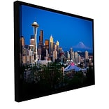 ArtWall Seattle And Mt. Rainier Gallery-Wrapped Canvas 16 x 24 Floater-Framed (0yor050a1624f)