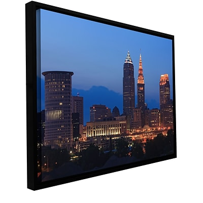 ArtWall Cleveland 17 Gallery-Wrapped Canvas 12 x 18 Floater-Framed (0yor030a1218f)
