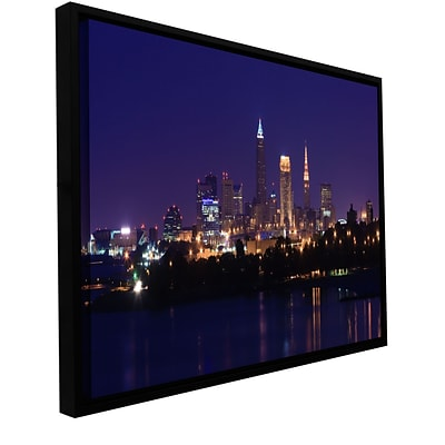 ArtWall Cleveland 16 Gallery-Wrapped Canvas 24 x 48 Floater-Framed (0yor029a2448f)