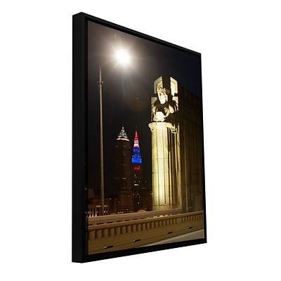 ArtWall Cleveland 6 Gallery-Wrapped Canvas 24 x 36 Floater-Framed (0yor019a2436f)