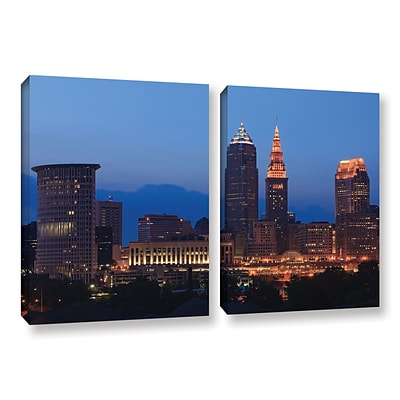 ArtWall Cleveland 17 2-Piece Gallery-Wrapped Canvas Set 18 x 28 (0yor030b1828w)