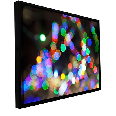 ArtWall Bokeh 1 Gallery-Wrapped Canvas 32 x 48 Floater-Framed (0yor005a3248f)
