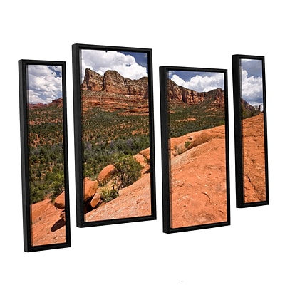 ArtWall Sedona 4-Piece Canvas Staggered Set 36 x 54 Floater-Framed (0yor053i3654f)