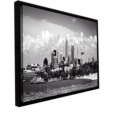 ArtWall Cleveland Pano 1 Gallery-Wrapped Canvas 12 x 24 Floater-Framed (0yor036a1224f)