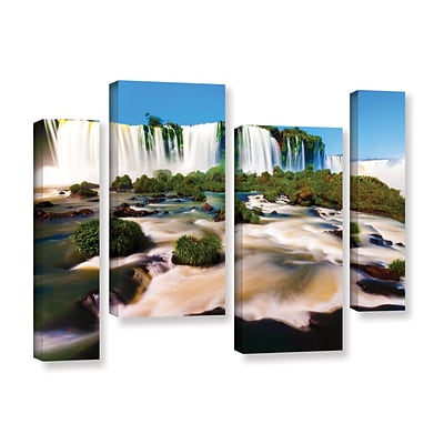 ArtWall Brazil 2 4-Piece Gallery-Wrapped Canvas Staggered Set 24 x 36 (0yor010i2436w)