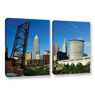 ArtWall Cleveland 13 2-Piece Gallery-Wrapped Canvas Set 32 x 48 (0yor026b3248w)