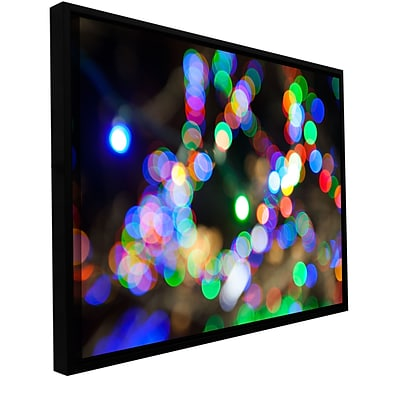 ArtWall Bokeh 2 Gallery-Wrapped Canvas 12 x 18 Floater-Framed (0yor006a1218f)