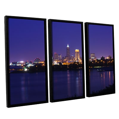 ArtWall Cleveland 18 3-Piece Canvas Set 36 x 54 Floater-Framed (0yor031c3654f)