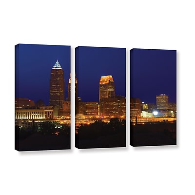ArtWall Cleveland 15 3-Piece Gallery-Wrapped Canvas Set 36 x 54 (0yor028c3654w)