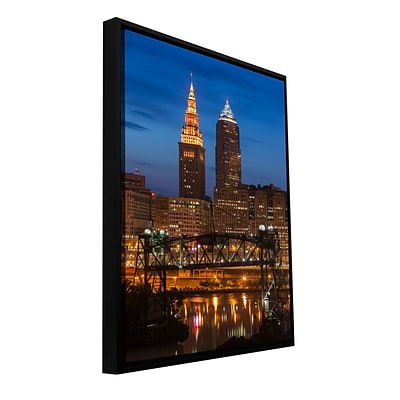 ArtWall Cleveland 14 Gallery-Wrapped Canvas 24 x 36 Floater-Framed (0yor027a2436f)