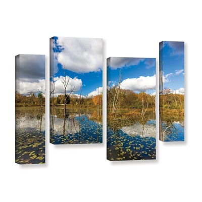 ArtWall Beaver Marsh 4-Piece Gallery-Wrapped Canvas Staggered Set 36 x 54 (0yor001i3654w)
