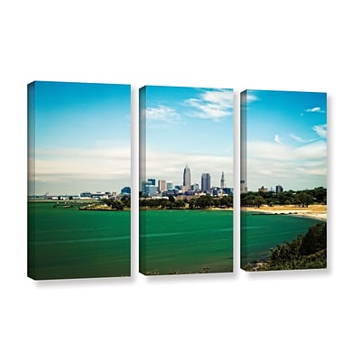 ArtWall Cleveland 22 3-Piece Gallery-Wrapped Canvas Set 36 x 54 (0yor035c3654w)