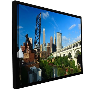 ArtWall Cleveland 11 Gallery-Wrapped Canvas 12 x 24 Floater-Framed (0yor024a1224f)