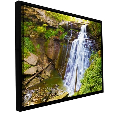 ArtWall Brandywine Falls 2 Gallery-Wrapped Canvas 16 x 24 Floater-Framed (0yor008a1624f)