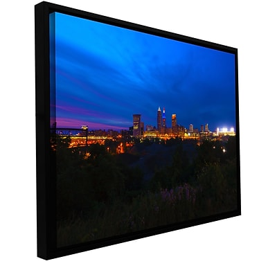ArtWall Cleveland 3 Gallery-Wrapped Canvas 24 x 36 Floater-Framed (0yor016a2436f)