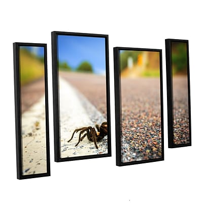 ArtWall Tarantula 4-Piece Canvas Staggered Set 24 x 36 Floater Framed (0yor057i2436f)