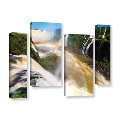 ArtWall Iguassu Falls 2 4-Piece Gallery-Wrapped Canvas Staggered Set 24 x 36 (0yor042i2436w)